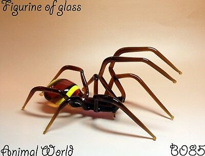 Figurine Spider Blown glass Souvenirs Russia Insects Handmade Art
