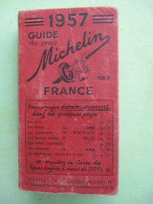 Guide Michelin Rouge 1957