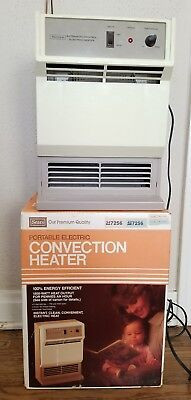 VINTAGE Sears Portable Electric Convection Heater In box 7256  WORKS! Retro