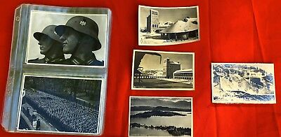 (37) Sammelwerk WWII Military Cards, 3 1930's German Postcards, 1 Posted 1936 PC