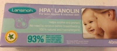 Lansinoh HPA 40ml Cream for Sore Nipples and Cracked Skin