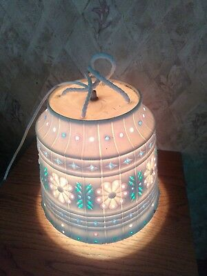Rare Vintage 1950's Lawnware Electric Porch Lawn Hanging Lamp Light Jeweled