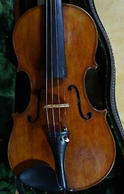 A superb old violin labeled Leandro Bisiach 1908
