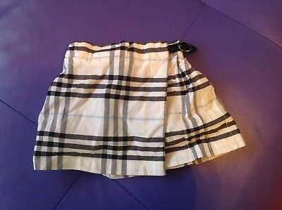 Burberry black and white checkered skirt aged 6 months!!!