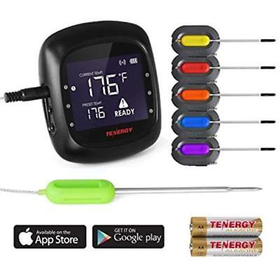 Solis Meat Digital Thermometer, APP Controlled Wireless Bluetooth Smart BBQ W/6