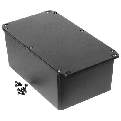 Hammond 1590EFLBK Diecast Enclosure Flanged Lid Black (187.5 x 119.5 x 82mm)