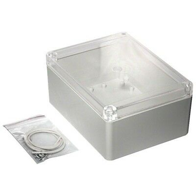 Hammond RP1245C Watertight ABS Enclosure 165 x 125 x 75 Clear Lid Grey