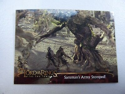 TOPPS Lord of the Rings: The Two Towers - Card #145 SARUMAN'S ARMY STOPPED!