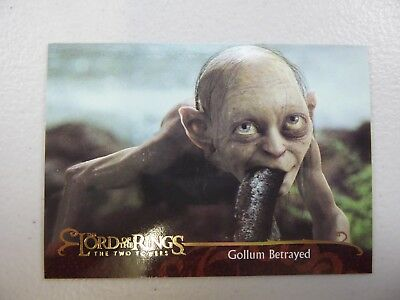 TOPPS Lord of the Rings: The Two Towers - Card #135 GOLLUM BETRAYED