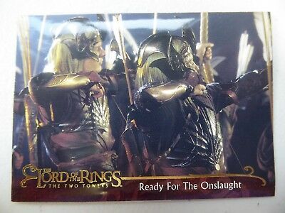TOPPS Lord of the Rings: The Two Towers - Card #64 READY FOR THE ONSLAUGHT