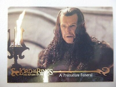TOPPS Card : LOTR The Return Of The King  #60 A PREMATURE FUNERAL