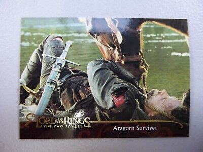 TOPPS Lord of the Rings: The Two Towers - Card #131 ARAGORN SURVIVES
