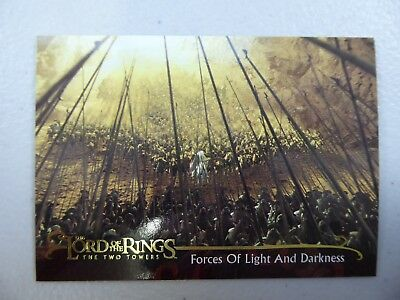 TOPPS Lord of the Rings: The Two Towers - Card #149 FORCES OF LIGHT AND DARKNESS