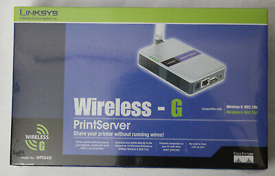 Cisco-Linksys WPS54G Wireless-G 802.11g Print Server