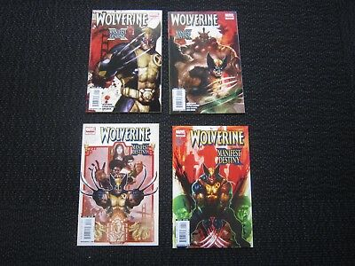 Wolverine Manifest Destiny #1 to #4 complete limited series - 2008 NM+