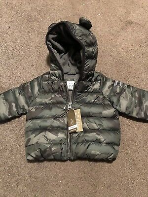NWT Baby Gap PrimaLoft Camo Puffer Jacket 0-6 Months Hooded Winter Boy NEW