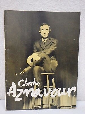 Vintage 1963 The World Of CHARLES AZNAVOUR Tour Programme 18-Page VG Condition