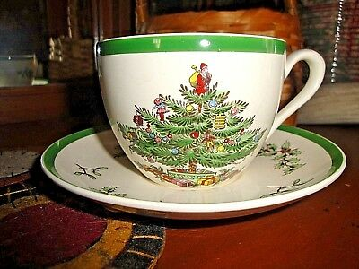 Vintage Spode Copeland Christmas Tree Coffee Cup and Saucer Set S3324