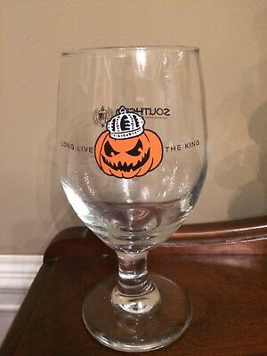"""Southern Tier Pumking Goblet Glasses-""""Long Live The King"""""""