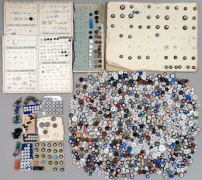 HUGE Lot of CHINA BUTTONS - 1800s - Many Styles / Sizes - See Photos