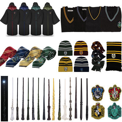 Adult Kid Harry Potter Hogwarts Cloak Robe Tie Scarf Fancy Dress Cosplay Costume