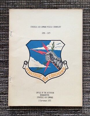 VERY RARE VINTAGE 1975 Strategic Air Command Missile Chronology: 1939-1973