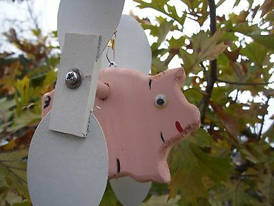 Pink Pig Mini Whirligigs Whirligig Windmill Yard Art Hand made from wood