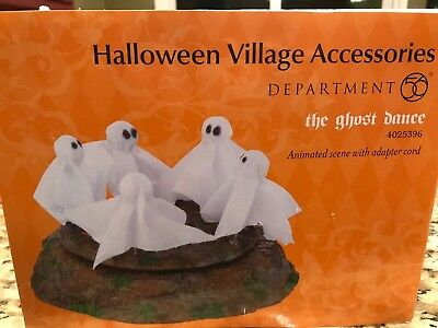 Dept 56 Snow Village Halloween The Ghost Dance Animated NEW