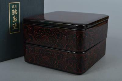 M7389: Japanese Wooden Wajima lacquer FOOD BOXES Jubako Lunch Box Tea Ceremony