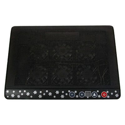 "New 2 USB 6 Fans Cooling Cooler Pad Stand for 12""-17"" Laptop LED Light Black"