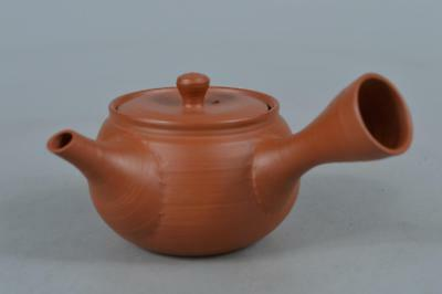 M8145:Japanese Tokoname-ware Brown pottery TEAPOT Kyusu Sencha Tea Ceremony
