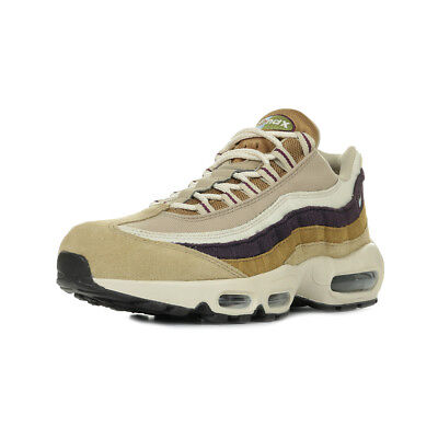 "Chaussures Baskets Nike homme Air Max 95 Premium ""Royal Tint"" taille Beige Cuir"