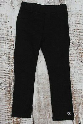CALVIN KLEIN JEANS Kids Girls NEW Size 4 Dark Gray Stretch Legging Pants