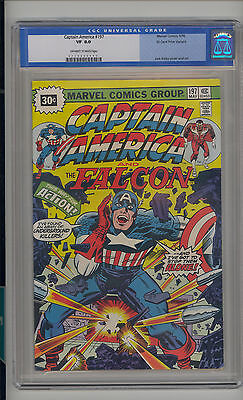 Captain America #197 CGC 8.0 VF Unrestored Marvel 30 Cent Variant OW/W Pages