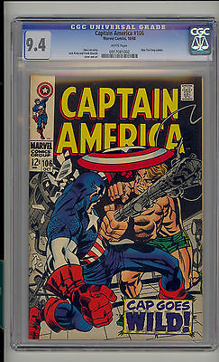Captain America #106 CGC 9.4 NM Unrestored Marvel Mao Tse-Tung WHITE Pages