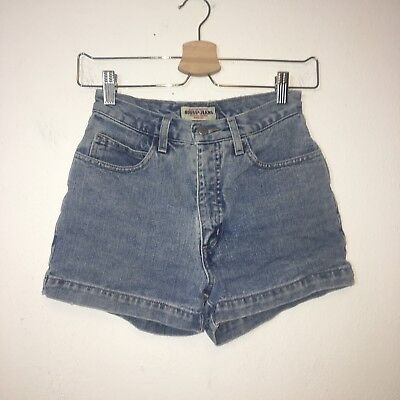 Vintage Guess Womens Blue High Waisted Jean Shorts Size 26