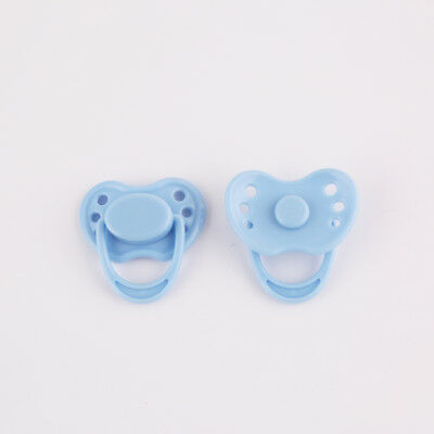 Dummy Magnetic Pacifier For Reborn Baby Internal Magnet Dolls Accessories Blue