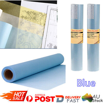 50M*30CM Transparent Tracing Paper Butter Paper Blue Roll Draft Sketch Paper AU