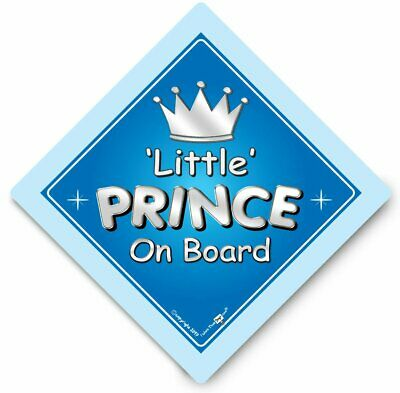Little PRINCE On Board Car Sign, Baby On Board Sign, Suction Cup Sign