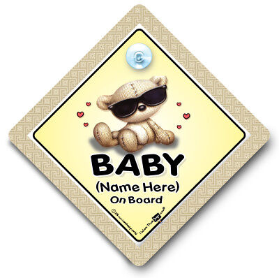 Baby Shades On Board, PERSONALISED Baby On Board Sign, Baby Car Sign