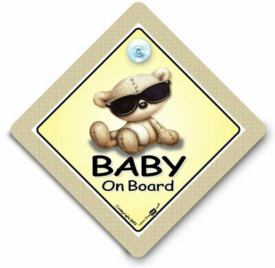 Baby On Board Sign, Baby in Sunglasses Sign, Baby Wearing Shades Sign,