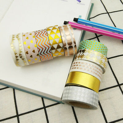 Washi Tape Geometry in metallic print 15mm x 5m