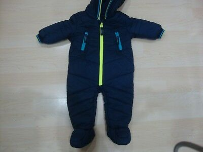 Ted Baker Navy Blue Snow Suit Age 3/6 Mnths