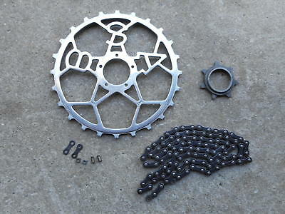 "Vintage BSA ""Alloy"" Chain Ring , Sprocket and Chain .......Inch Pitch x 3/32"