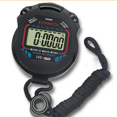 Digital Handheld LCD Chronograph Timer Sports Stop Watch Stopwatch Counter ha