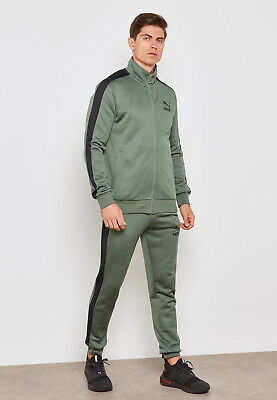 fb59287490b9 PUMA Men s Fashion Sports Jacket +Jogging Pants Green Classic T7 Tracksuit  2pc