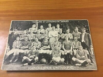 Vintage Manchester United F.C. ( Health And Strength Series ) Post Card