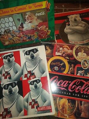 Coca-Cola Merchandise Collectibles Lot~ Pop-Up Book, Folder, Notebook, Calendar