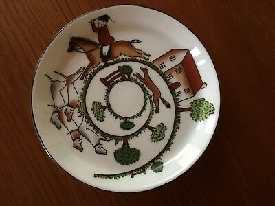 Crown Staffordshire Trinket Dish In The Hunting Scene Design Excellent Condition
