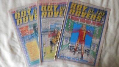 ROY OF THE ROVERS 3 issues (1977)